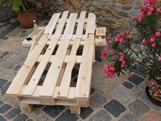 Gartenliege Paletten, Sonnenliege aus Palettenholz - Scholz ...