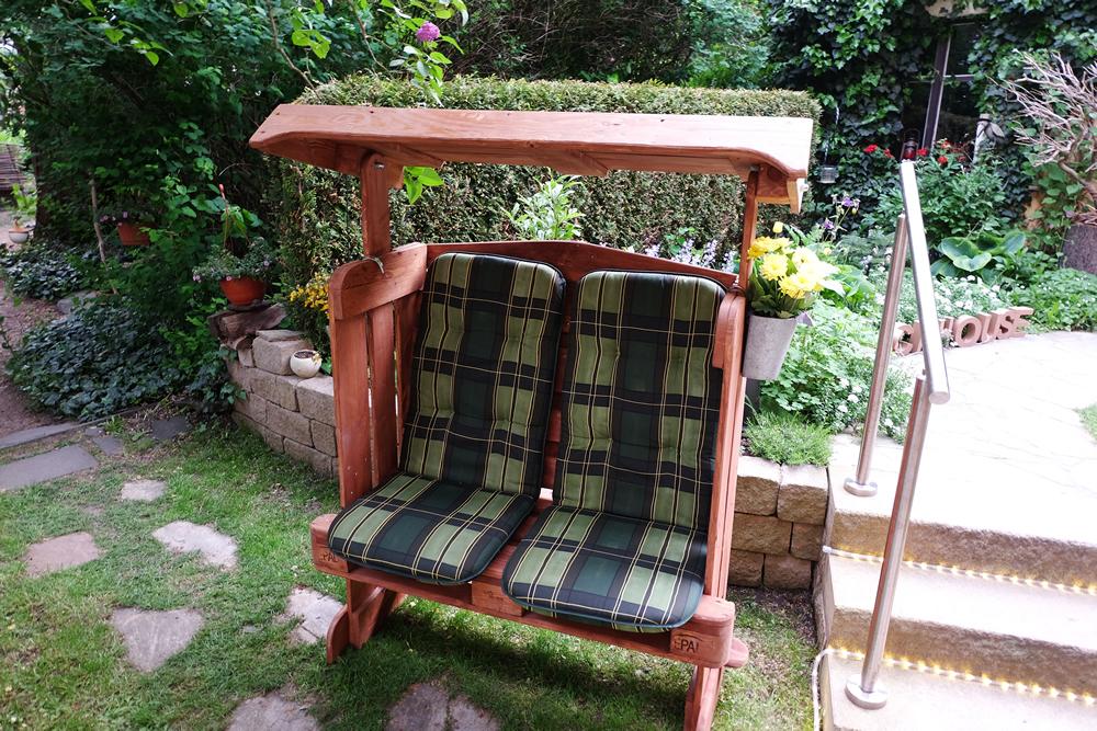 strandkorb aus palettenholz f r garten europaletten scholz holzdesign. Black Bedroom Furniture Sets. Home Design Ideas
