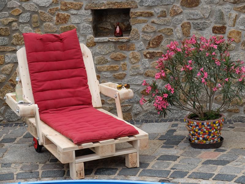 Außergewöhnlich Gartenliege Paletten, Sonnenliege aus Palettenholz - Scholz Holzdesign &TE_82