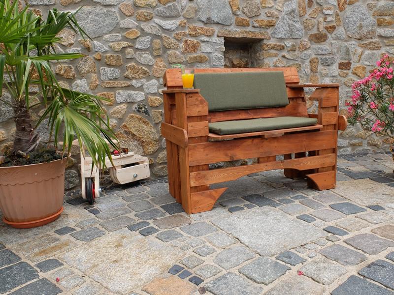 Gut gemocht Gartenbank Paletten, Sitzbank oder Holzbank aus Europaletten NP45